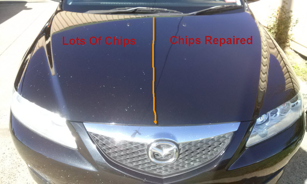 chip and scratch repair before and after