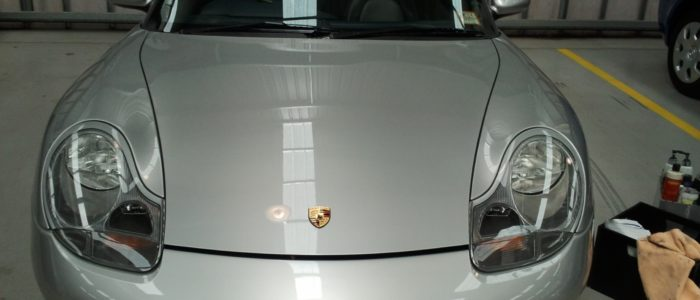 silver porsche paint repair