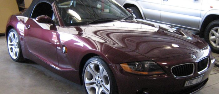 shiny BMW Z3